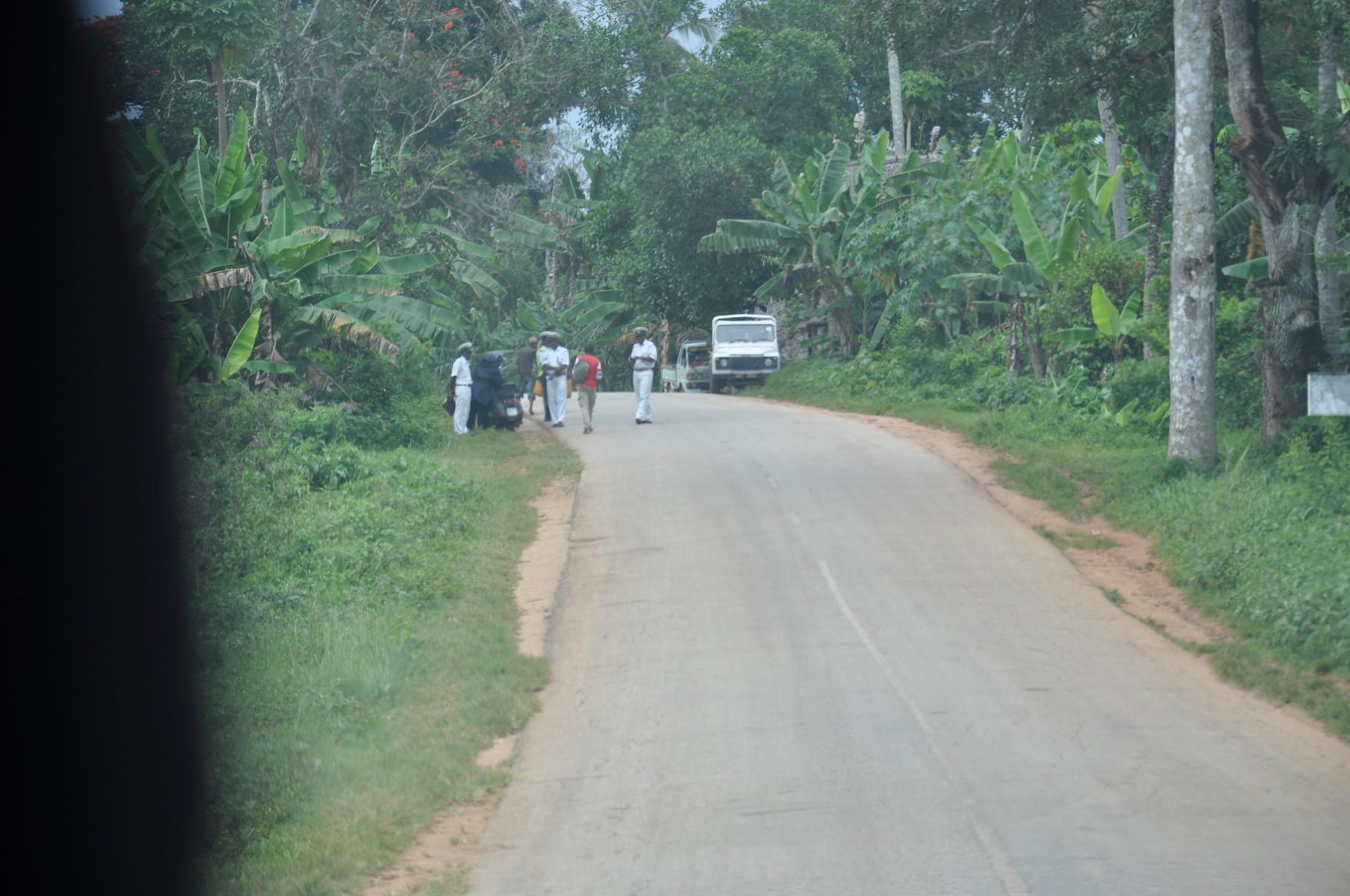 sur la route principale