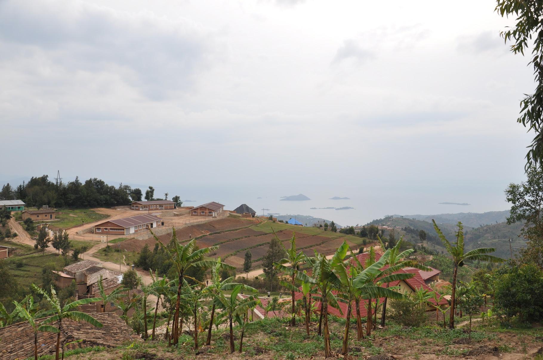 Premier regard sur le lac Kivu