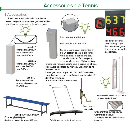 accessoires tennis