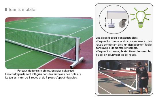 tennis poteaux mobiles