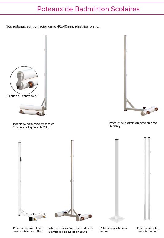poteaux badminton