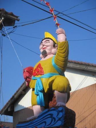 11月7日:由来八幡宮例大祭・祭花のてっぺんは福々しいマッチョエビスサン❤でした