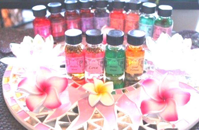 カラーセラピー効果もあるきれいな色の天然アロマ 願いを叶える 魔法のオイル アンシェントメモリーオイル  ハーブ アロマ スピリチュアル オーラ パワーストーン