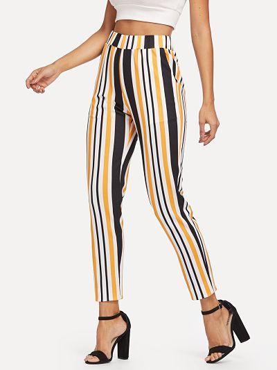 pantalon mujer a rayas, pantalon mujer primavera, outfits primavera, donde comprar ropa original y economica,
