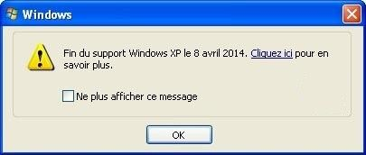 Fin de support Windows XP, Windows Vista et Windows 7