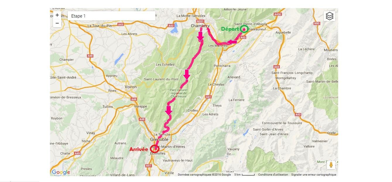 1ère étape - LA CHARTREUSE (100km-1950m D+)