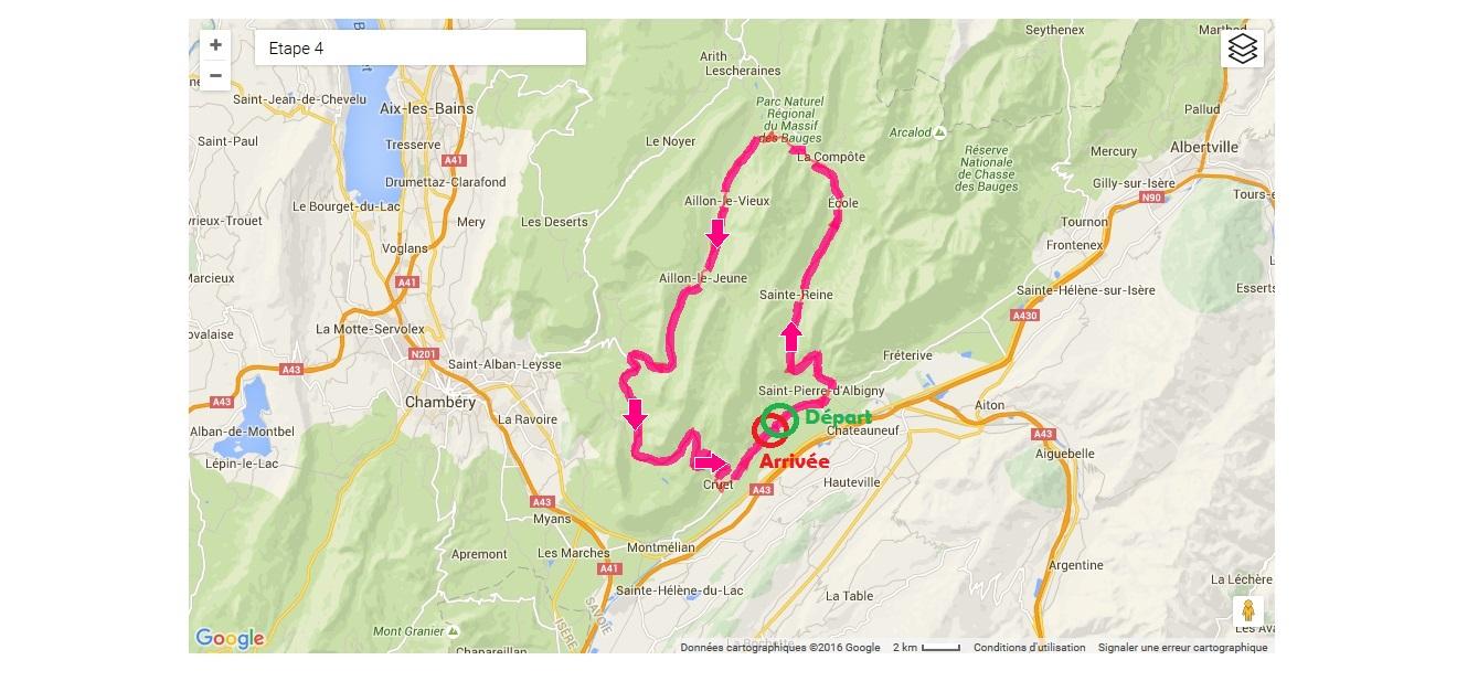 4ème étape - LA BAUGES (80km-1600m D+)