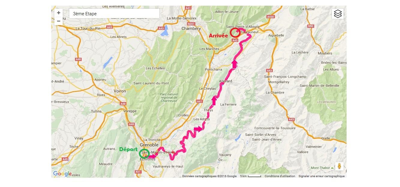 3ème étape - LA BELLEDONNE (100km-1800m D+)
