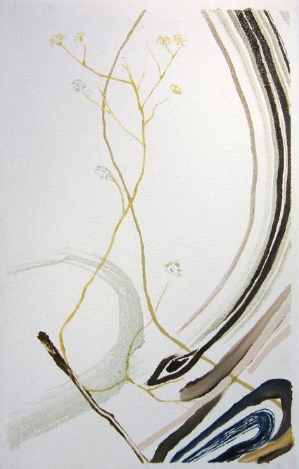 A wood/350×220mm/綿布に油彩、鉛筆/2013/撮影:怡土鉄夫