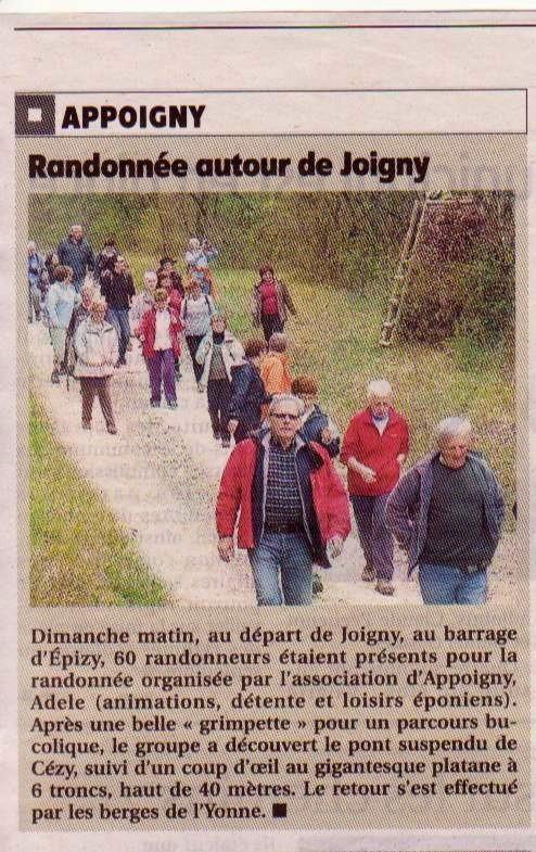 Marche du 30 Mars au départ de JOIGNY