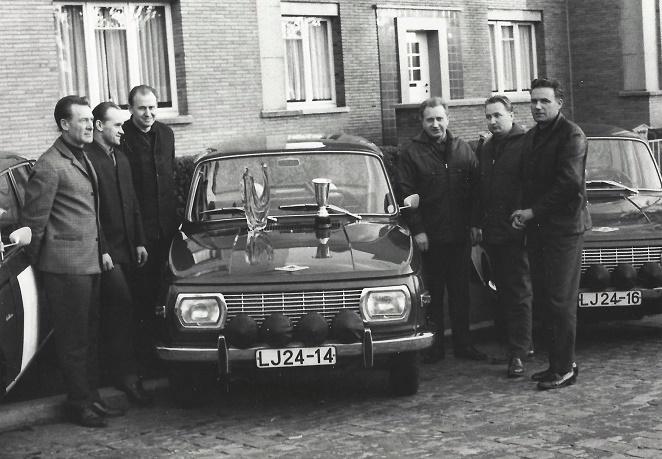 v.l.n.r. Paul Thiel, Egon Culmbacher, Günter Gries, Kurt Rüdiger, Wolfgang Strehlow und Kurt Otto (Quelle: Michael Stück Archiv)