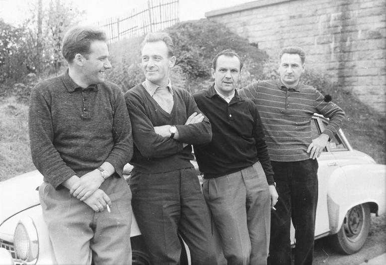 v.l.n.r. Kurt Otto, Paul Thiel, Hermann Hanf und Günther Rüttinger (Quelle: AWE Stiftung)