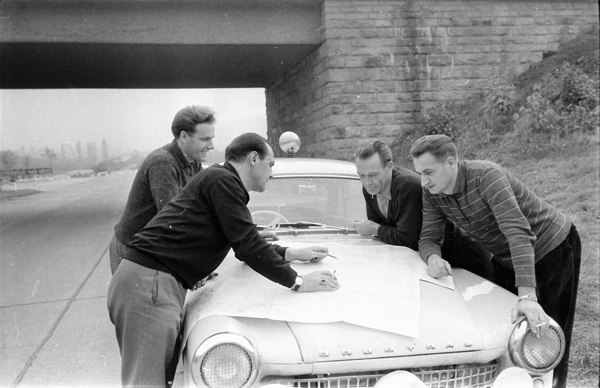 v.l.n.r. Hermann Hanf, Paul Thiel, Günther Rüttinger und Kurt Otto (Quelle: AWE Stiftung)
