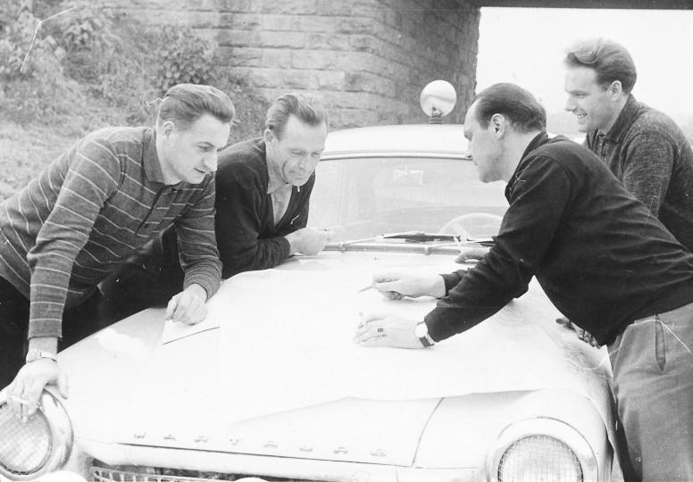 v.l.n.r. Günther Rüttinger, Paul Thiel, Hermann Hanf und Kurt Otto (Quelle: AWE Stiftung)