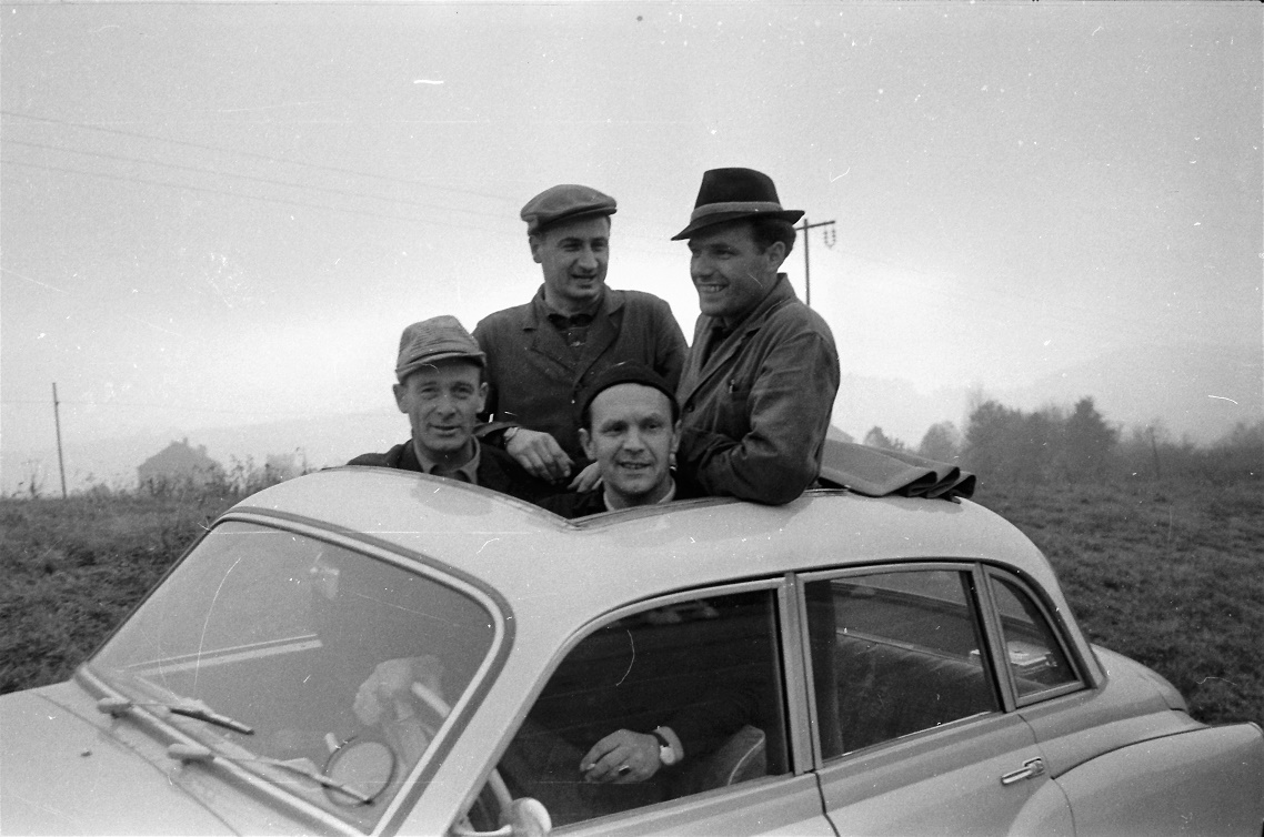 v.l.n.r. Paul Thiel, Hermann Hanf, Günther Rüttinger und Kurt Otto (Quelle: AWE Stiftung)