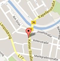 Kartenausschnitt Rastatt
