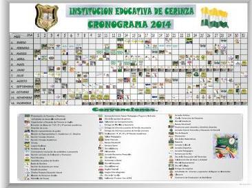 CRONOGRAMA ESCOLAR 2014