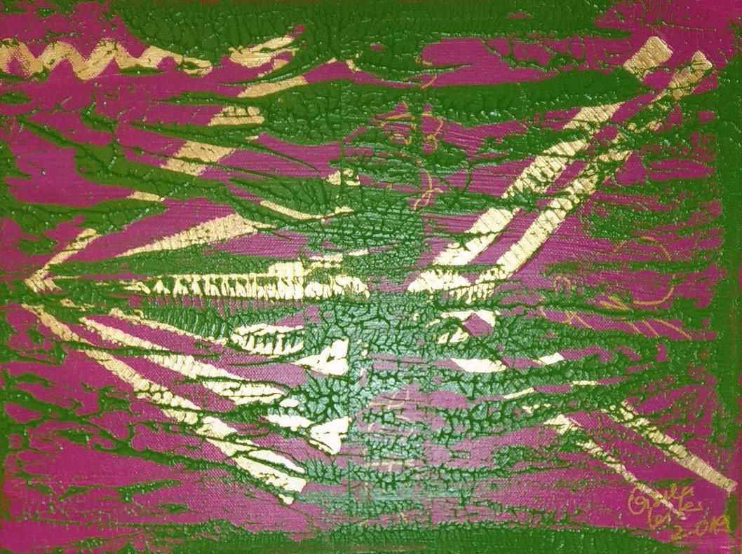 13. Energie folgt der Absicht, Acryl auf Leinwand, Grösse 40 x 30 cm