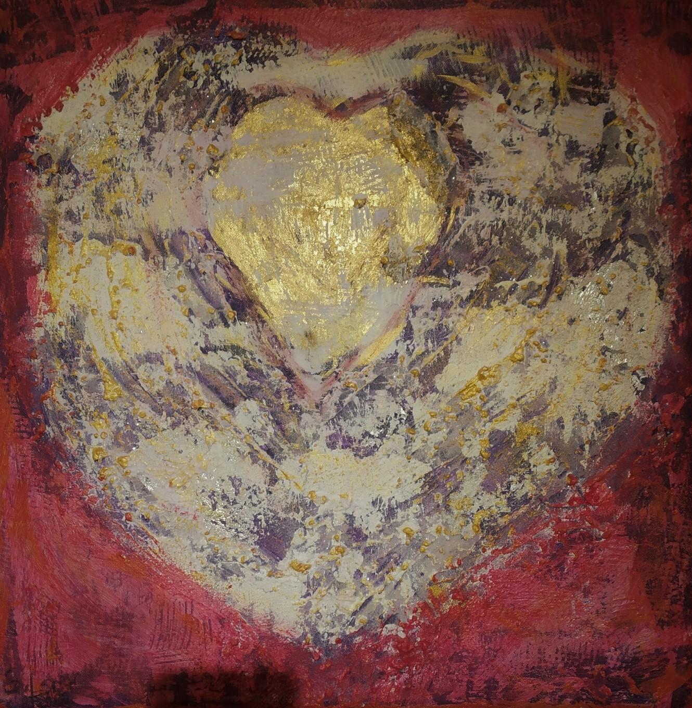 9. Herzöffnung, Acryl auf Leinwand, Grösse 60 x 60 cm