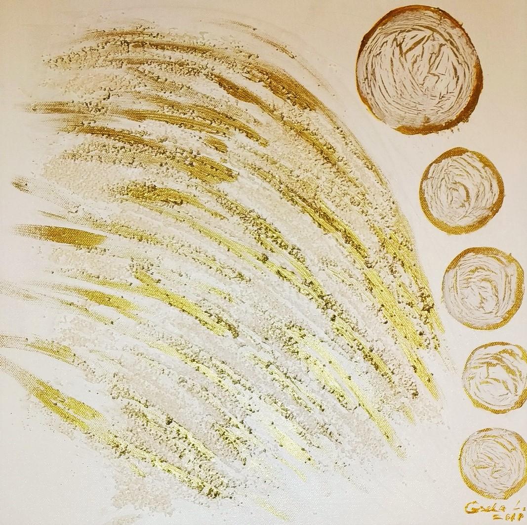 14. Metallelement, Acryl auf Leinwand, Grösse 40 x 40 cm
