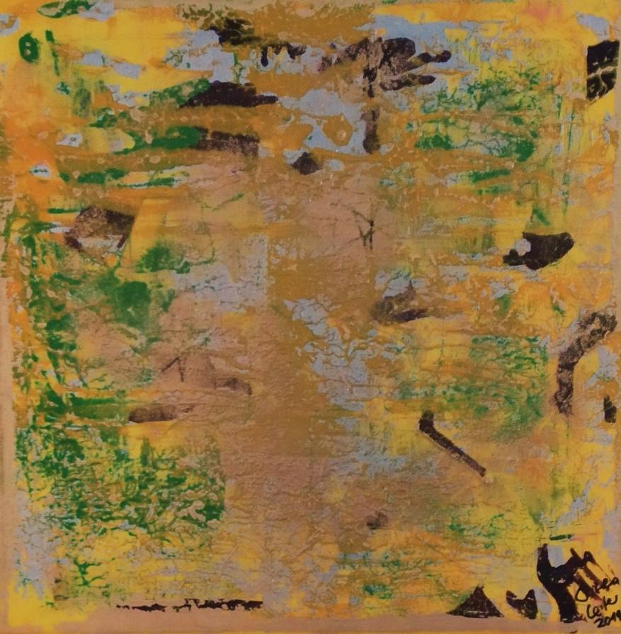 18. Erdelement, Acryl auf Leinwand, Grösse 40 x 40 cm