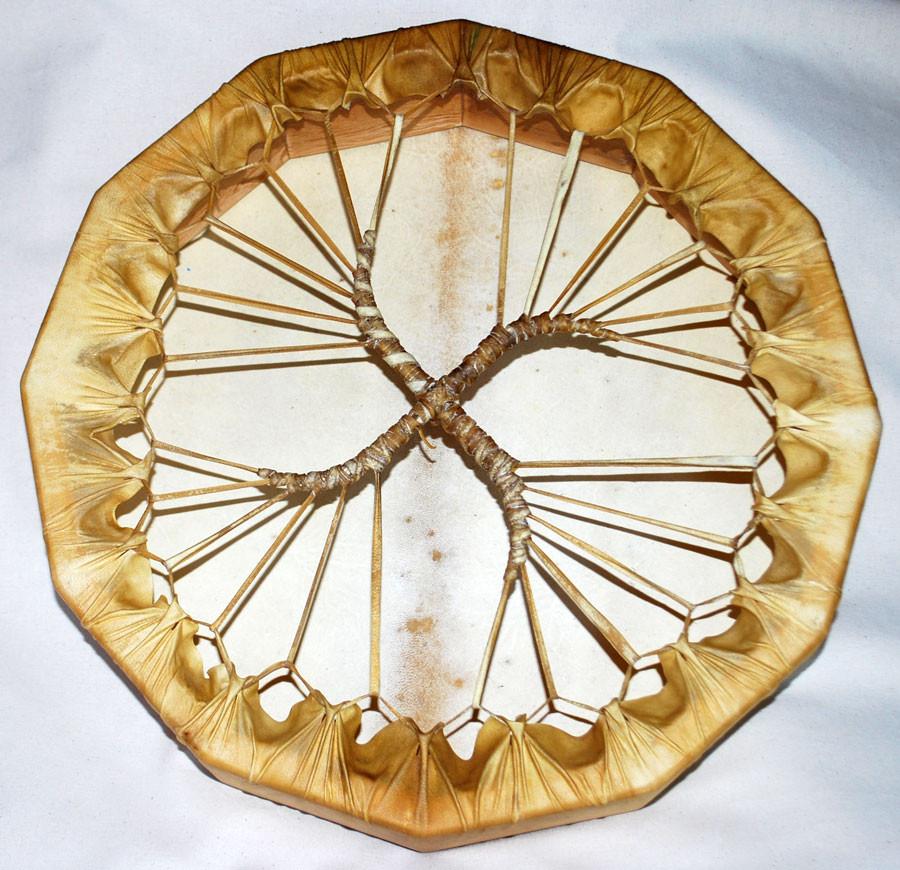 Tamburo dodecagonale, vista posteriore con legatura a spirale