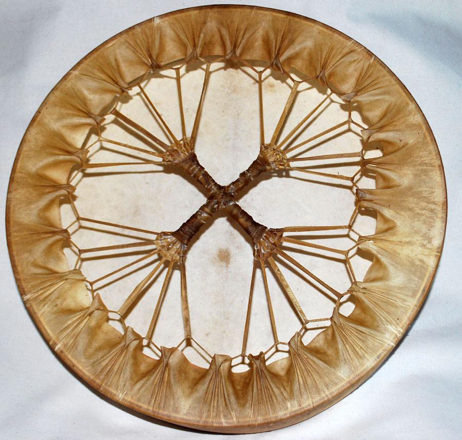Tamburo con intreccio a 4 braccia, 40 cm di diametro -  retro