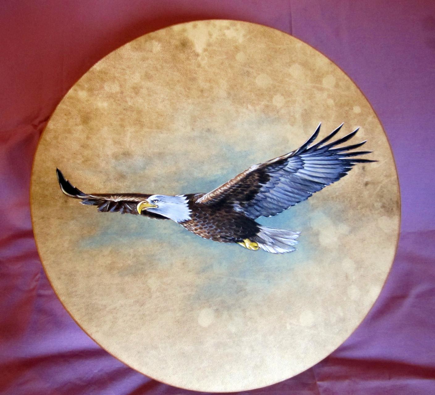 Tamburo dipinto a mano con Aquila (ordine personalizzato)