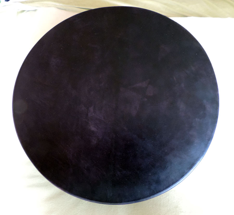 45 cm black drum (hide dyed by hand)