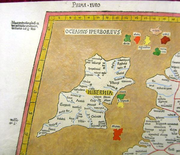 Ирландия на птолемеевской карте