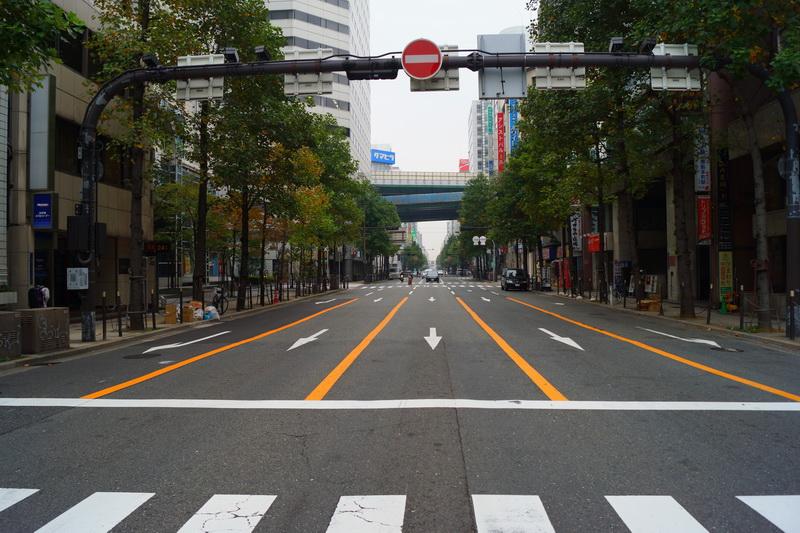 Город Осака, каким я его увидел часов в 10 утра ещё в 2012 году (чтобы никто не сказал, что это снято в период кретинокарантина)