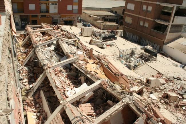 Edificio colapsado en Lorca