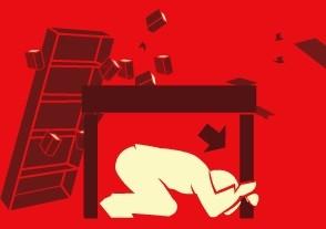 Agáchate, cúbrete y agárrate (www.terremotos.org)