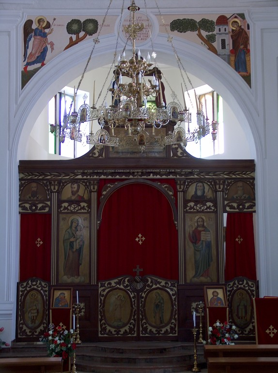 Interno chiesa uniata Madre-di-Dio di Kostantinopoli -  Iconostasi - 5 Maj 2009