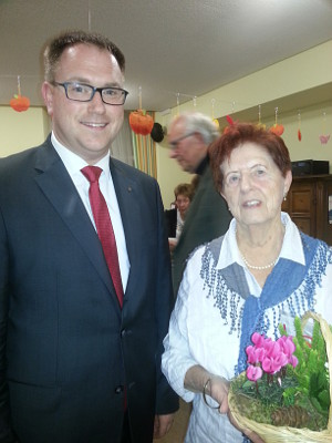 Bürgermeister Jan Lindenau und Frau Ursula Kriese