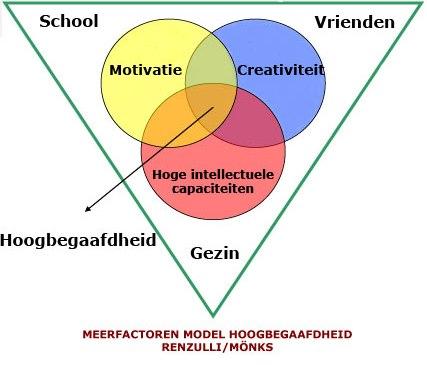 Het Triadisch Interpendentiemodel van Renzulli en Mönks - De website van  hoebegaafd!