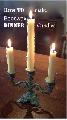 How to make Hand Dipped Beeswax Candles