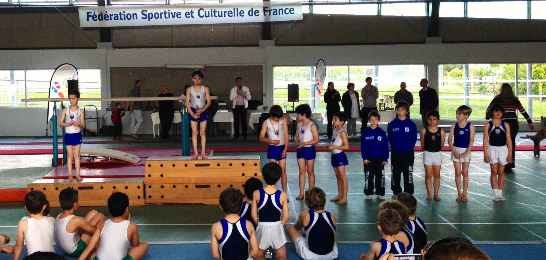 Podium Individuel jeunes Poussins: 1er Antonnin Ricochon, 2ème Evan Dulouat, 3ème Axel Rebelo