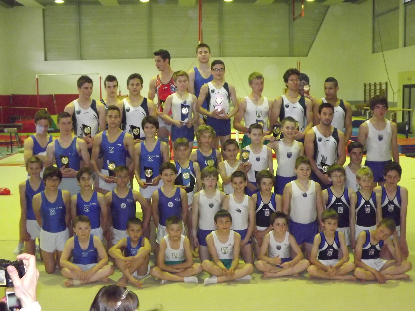 Groupe des gymnastes ayant participé