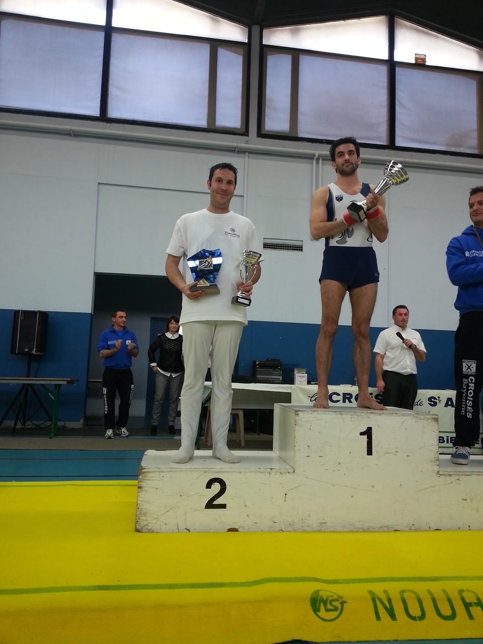 Trophée Mathieu Depesseville(Meilleur gym Adulte aux Arçons): Nicolas Belleau Ecureuils de Soustons