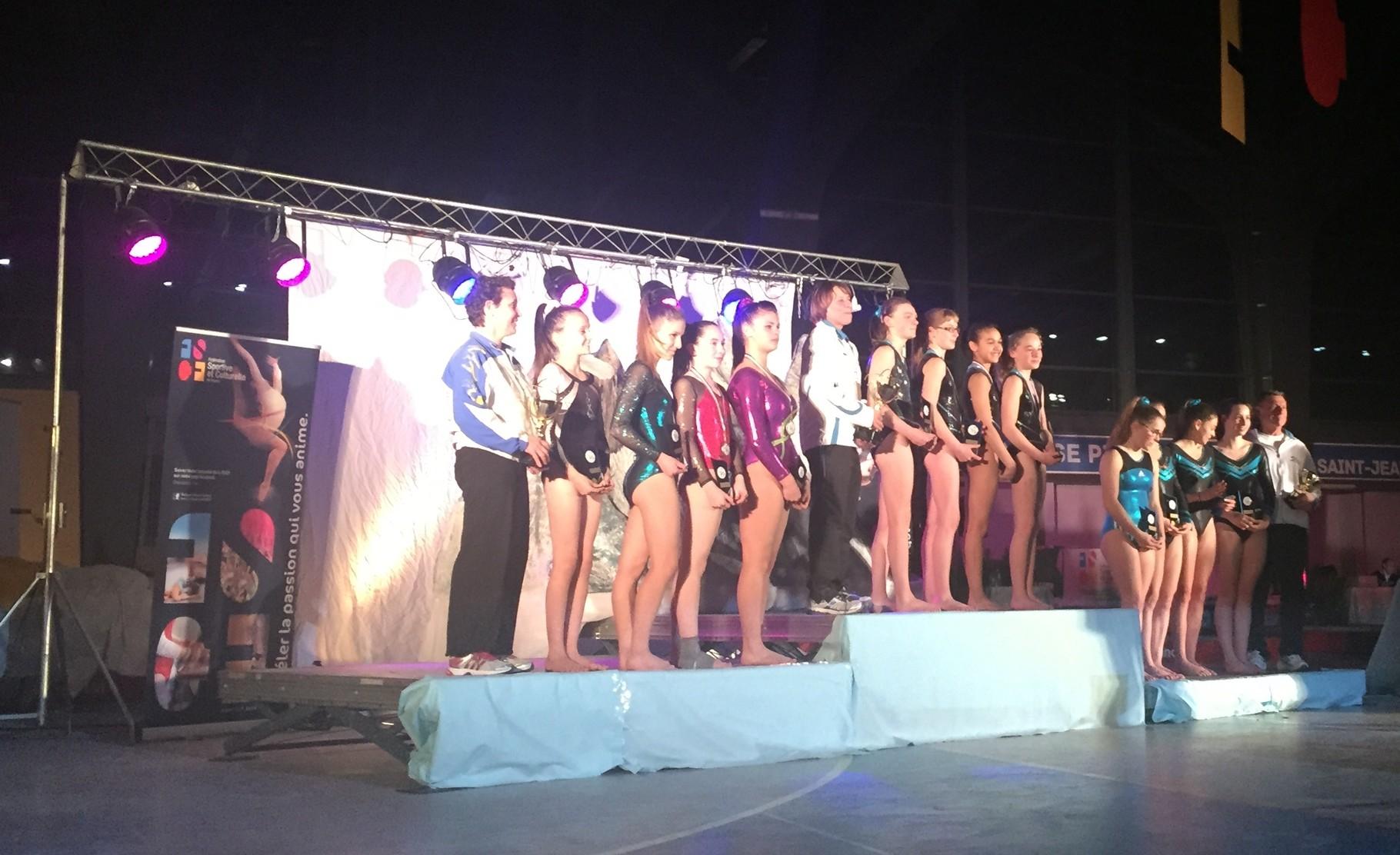 Podium Equipe Espoir Féminine: 2ème Envolée de Dax