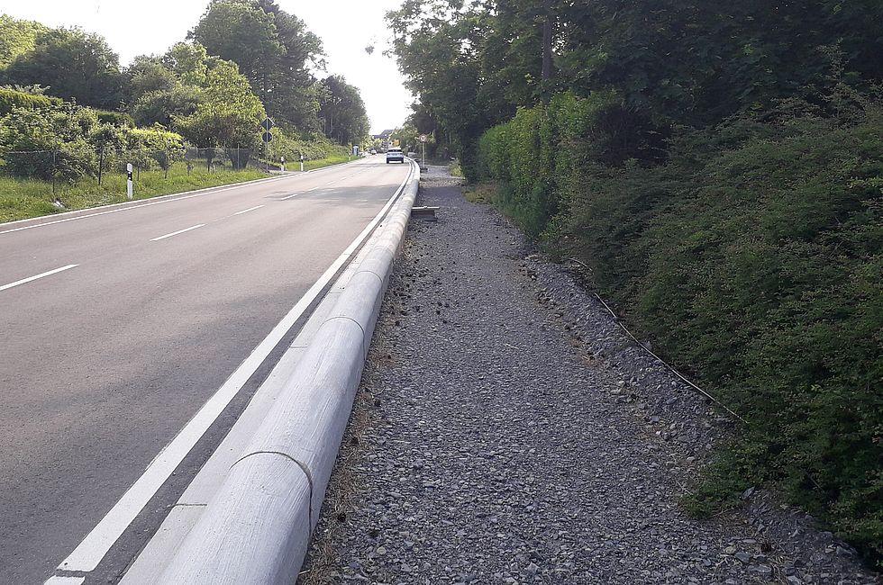 nichts tut sich beim Radweg Richtung Ditzingen und Gerlingen