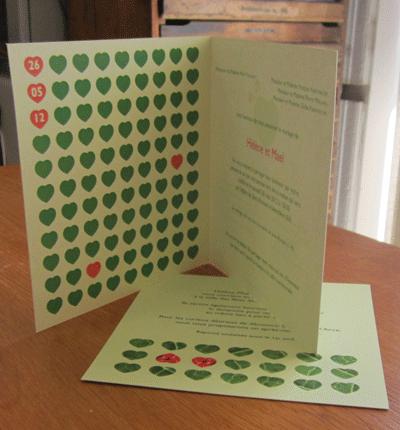 Faire-part de mariage et carton d'invitation (création Imprim17)