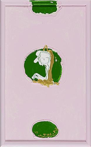 女神様107 Goddess 107, 2015 48.2 x 30.1 cm Acrylic on canvas