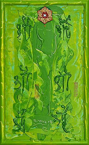 サラスワティー ~女神の宝石9~(女神様80) Saraswati -Goddess Jewel 9- (Goddess 80), 2011 48.2 x 30.1 cm Acrylic on canvas