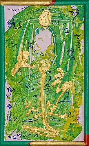 女神様28 Goddess 28, 2009 48.2 x 30.1 cm Acrylic on canvas