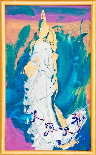女神様5 Goddess 5, 2009 48.2 x 30.1 cm Acrylic on canvas