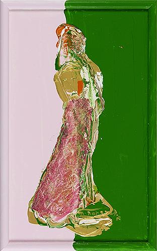 女神様106 Goddess 106, 2015 48.2 x 30.1 cm Acrylic on canvas