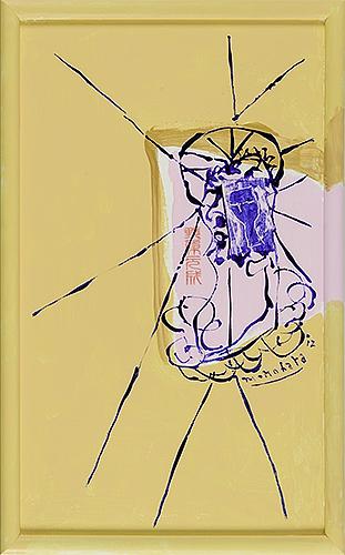女神様98 Goddess 98, 2012 48.2 x 30.1 cm Acrylic on canvas