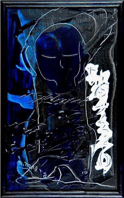 女神様43 Goddess 43, 2010 48.2 x 30.1 cm Acrylic on canvas